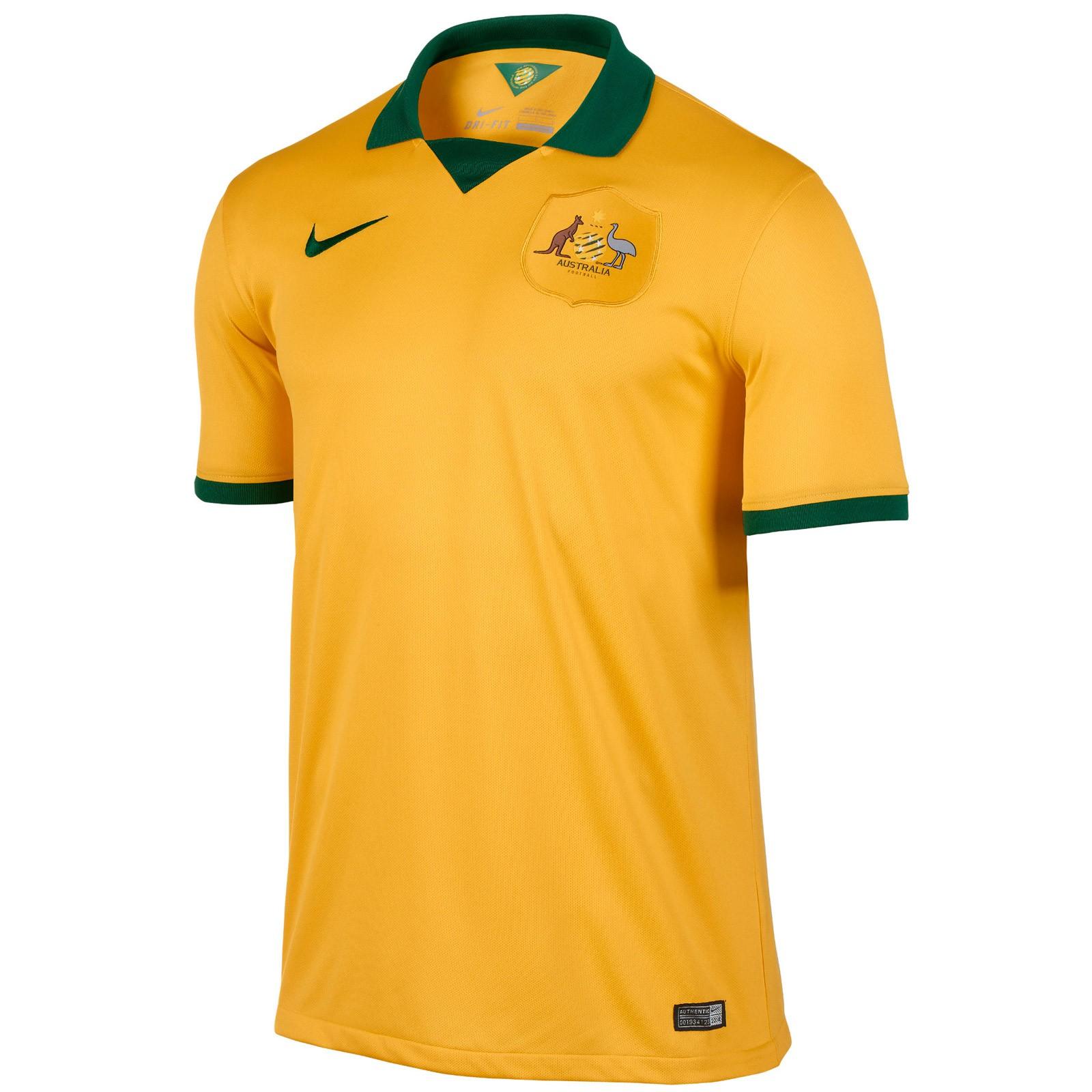 澳大利亚国家队2014世界杯球迷版主场球衣
