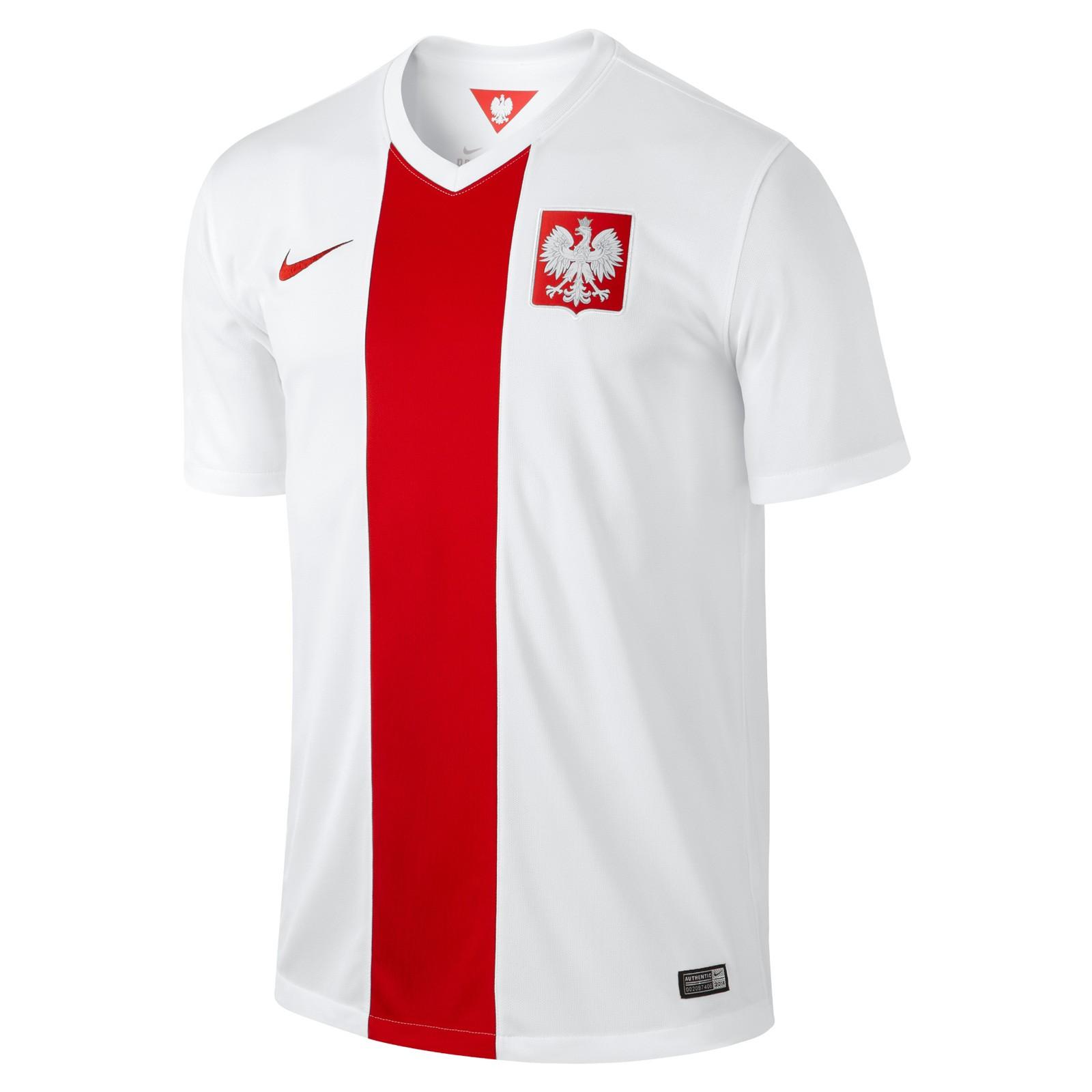 波兰国家队2014赛季球迷版主场球衣