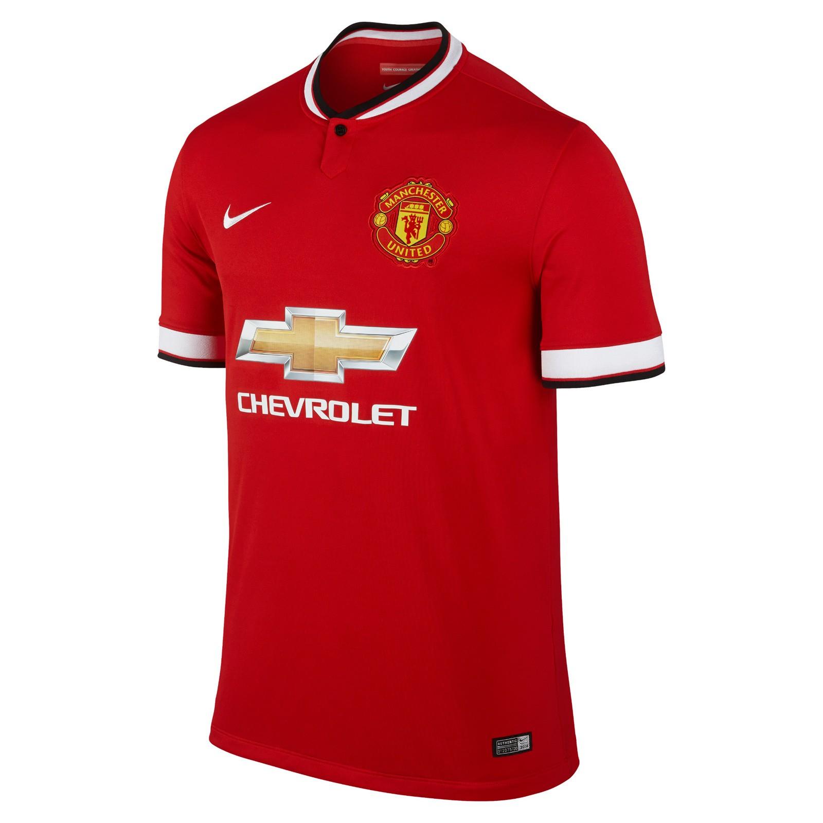 曼彻斯特联2014-15赛季球迷版主场球衣
