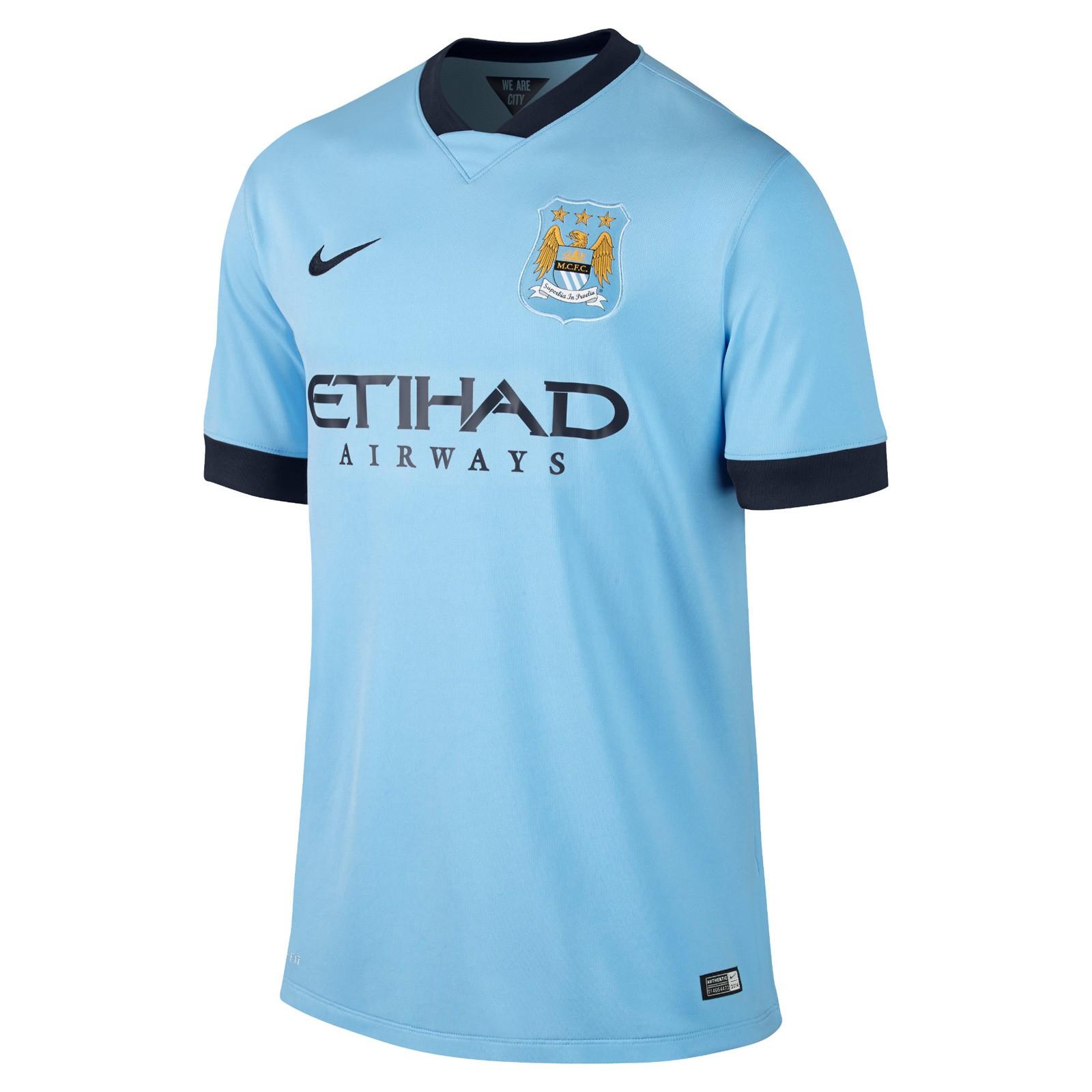 曼彻斯特城2014-15赛季球迷版主场球衣
