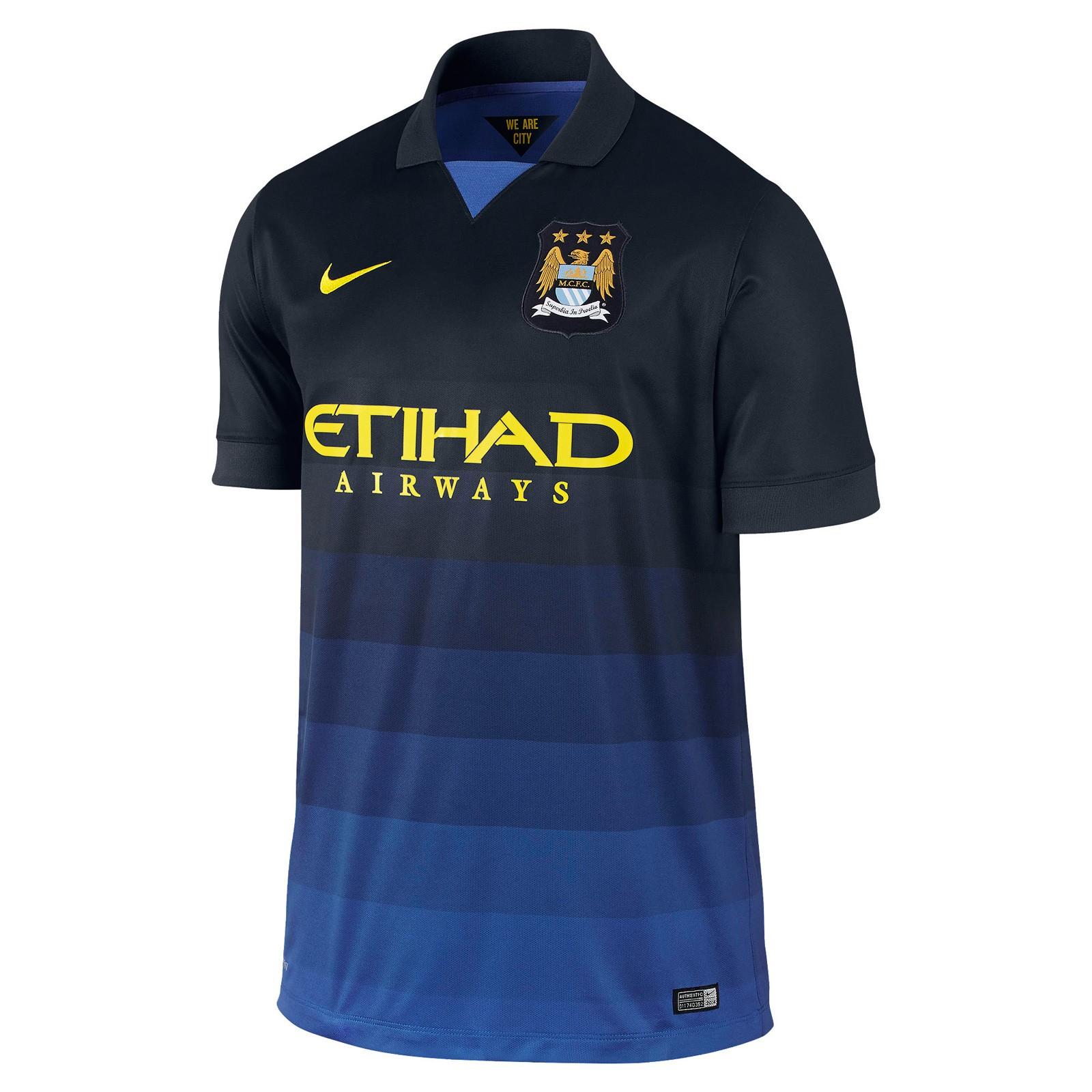 曼彻斯特城2014-15赛季球迷版客场球衣