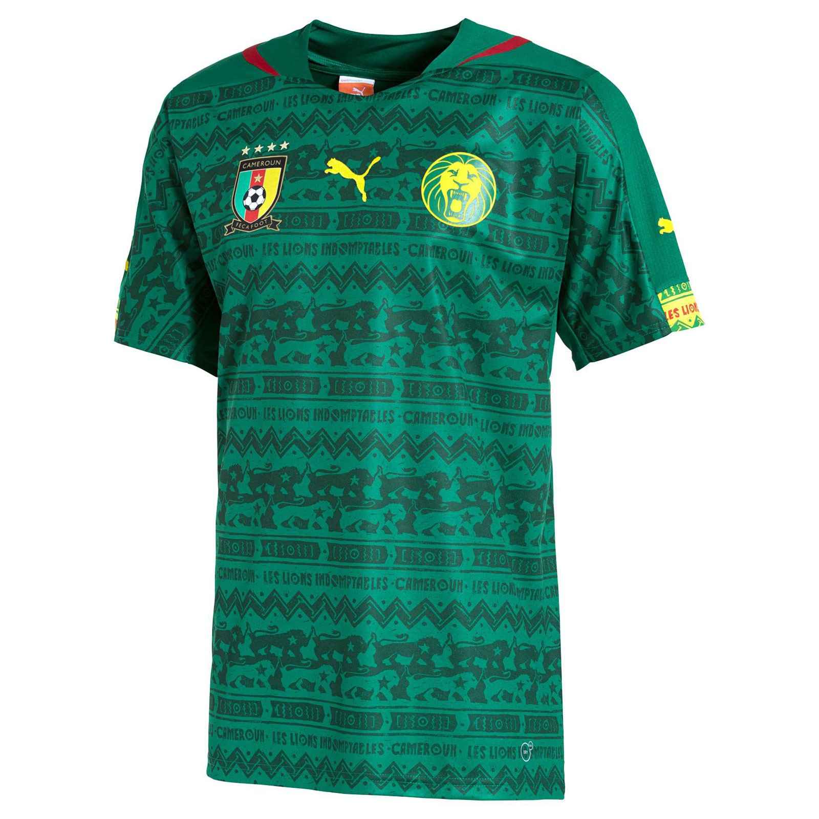 喀麦隆国家队2014世界杯球迷版主场球衣