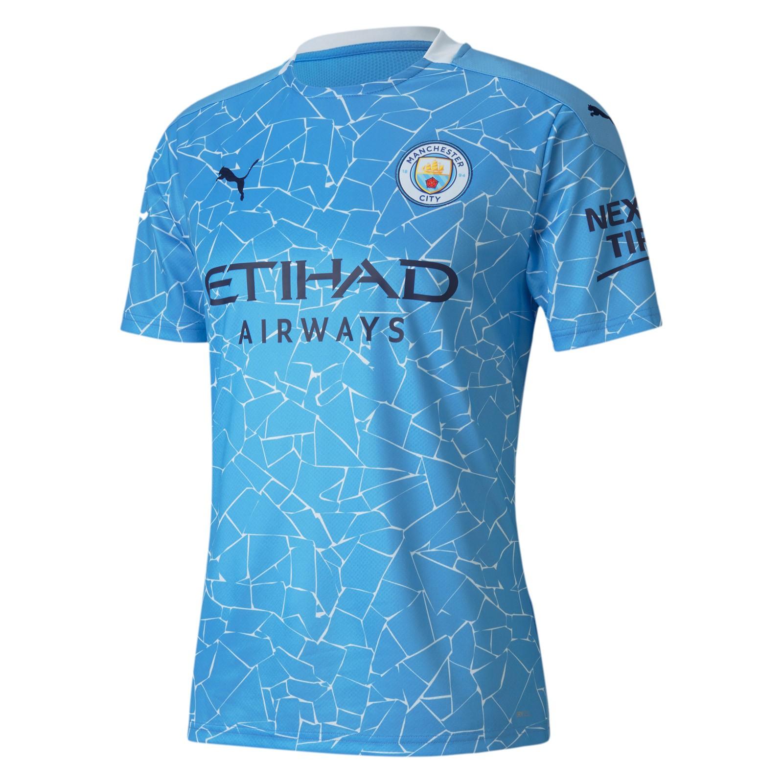 曼彻斯特城2020-21赛季球迷版主场球衣