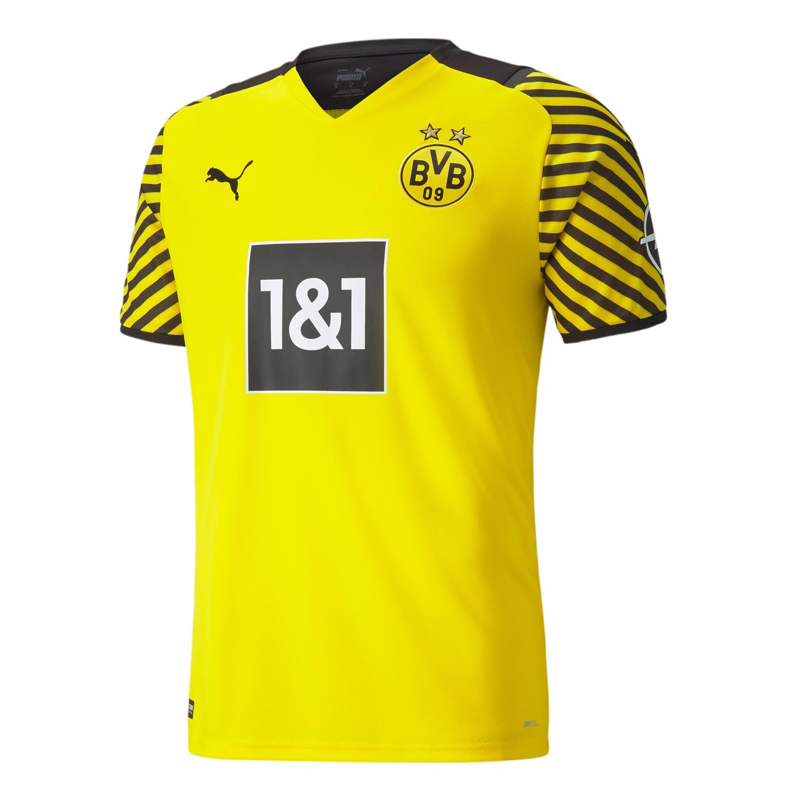 多特蒙德2021-22赛季球迷版主场球衣