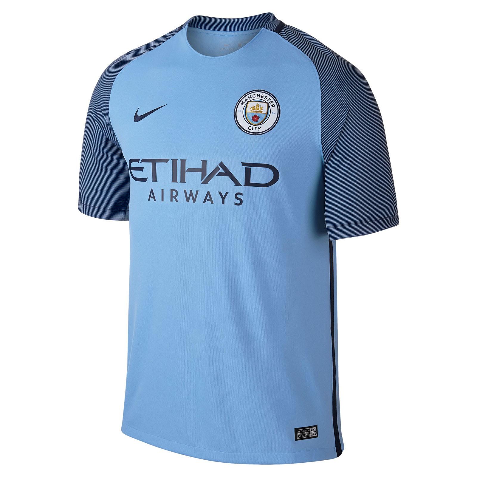 曼彻斯特城2016-17赛季球迷版主场球衣