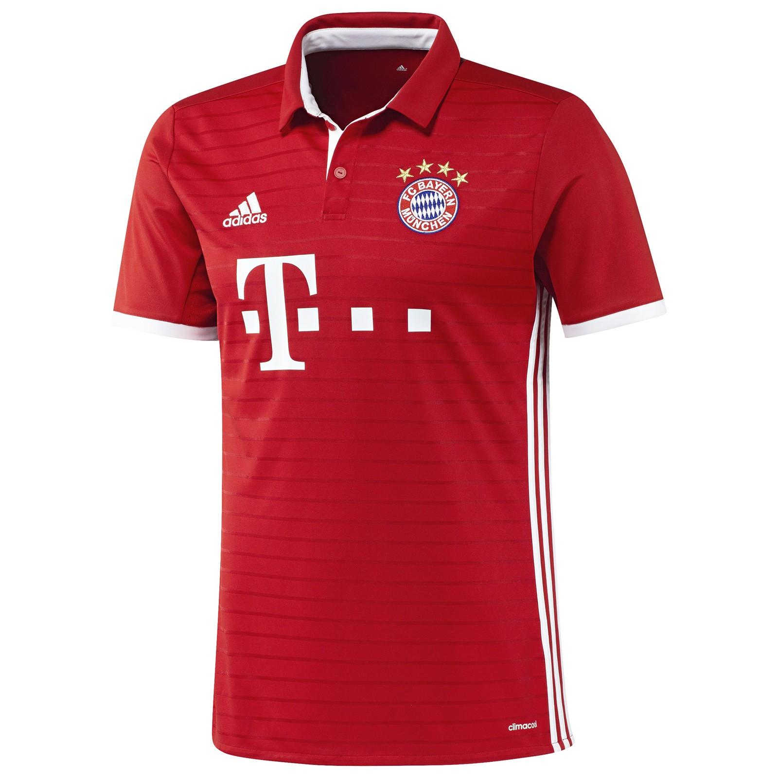 拜仁慕尼黑2016-17赛季球迷版主场球衣