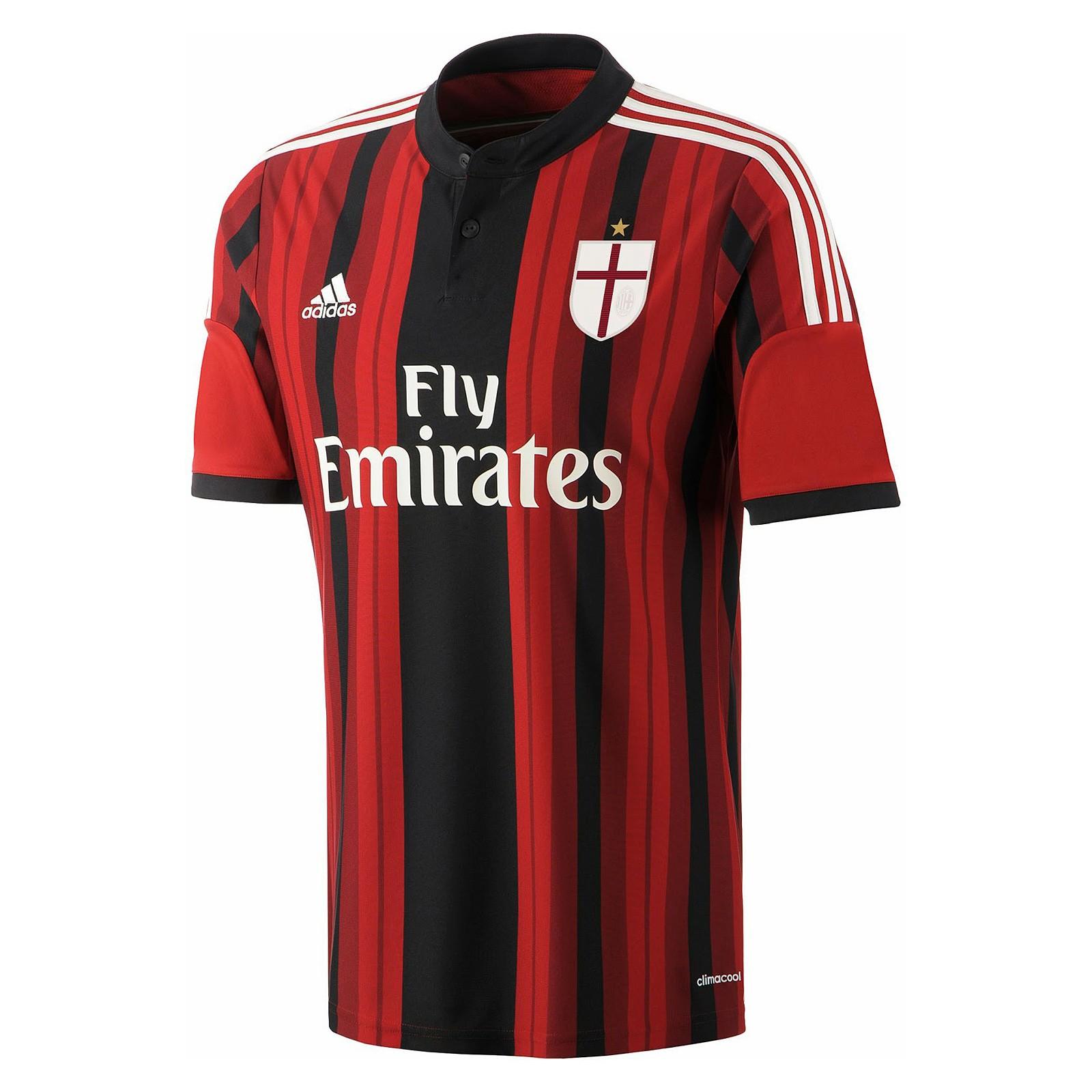 AC米兰2014-15赛季球迷版主场球衣