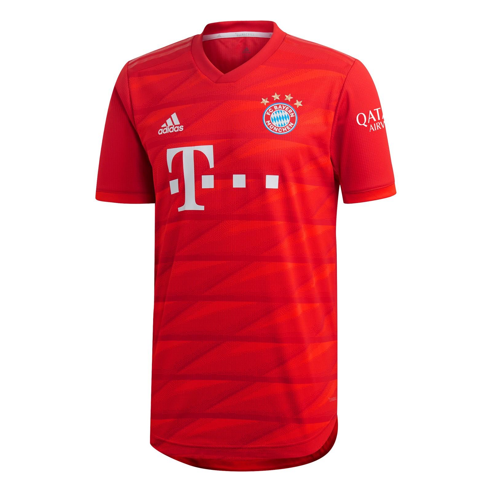 拜仁慕尼黑2019-20赛季球员版主场球衣