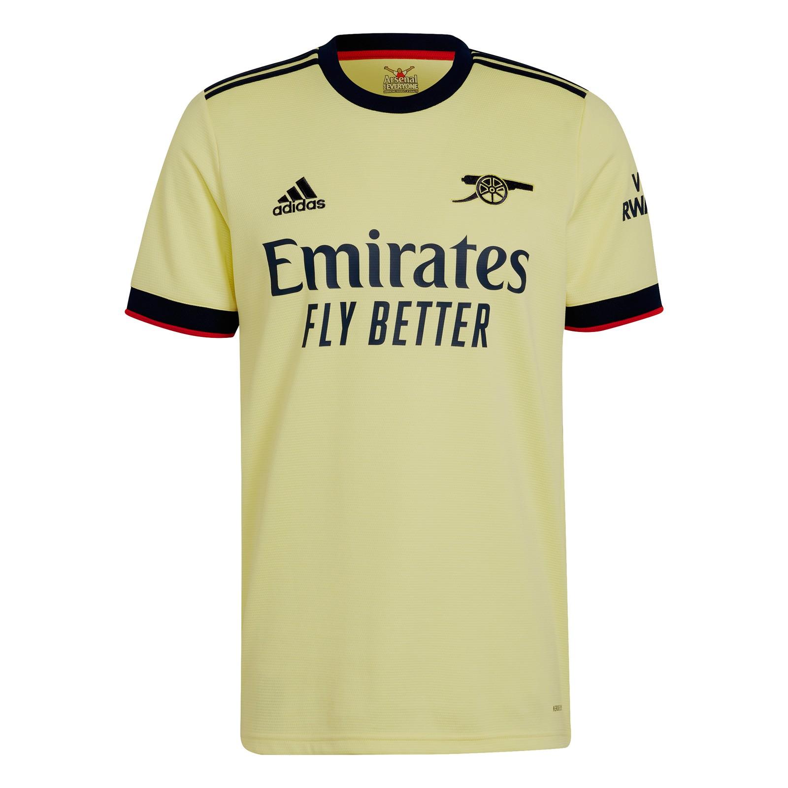 阿森纳2021-22赛季球迷版客场球衣