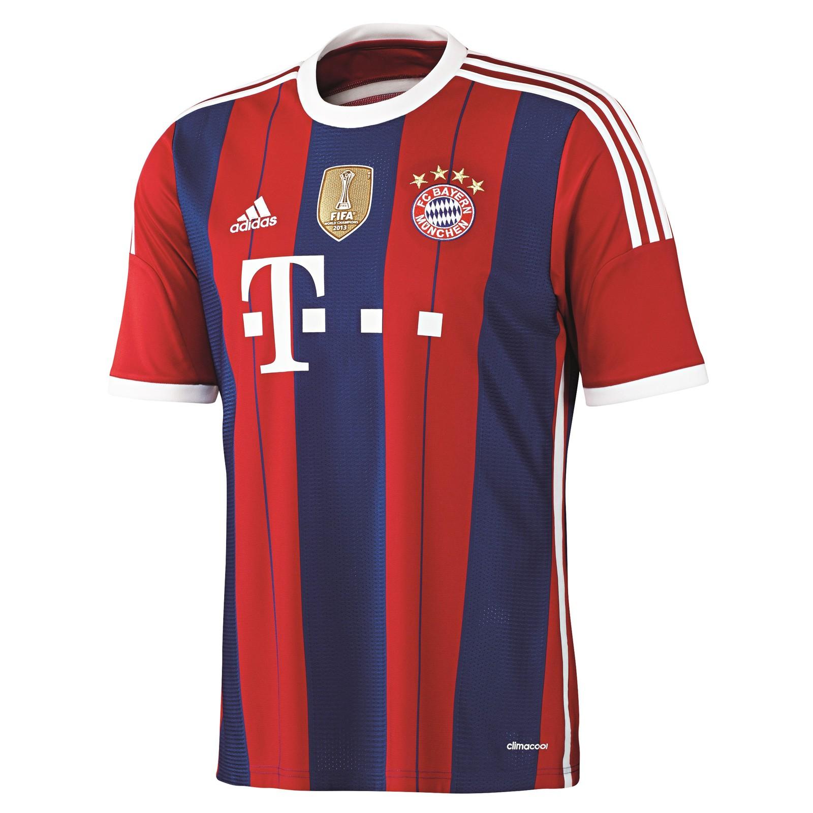 拜仁慕尼黑2014-15赛季球迷版主场球衣