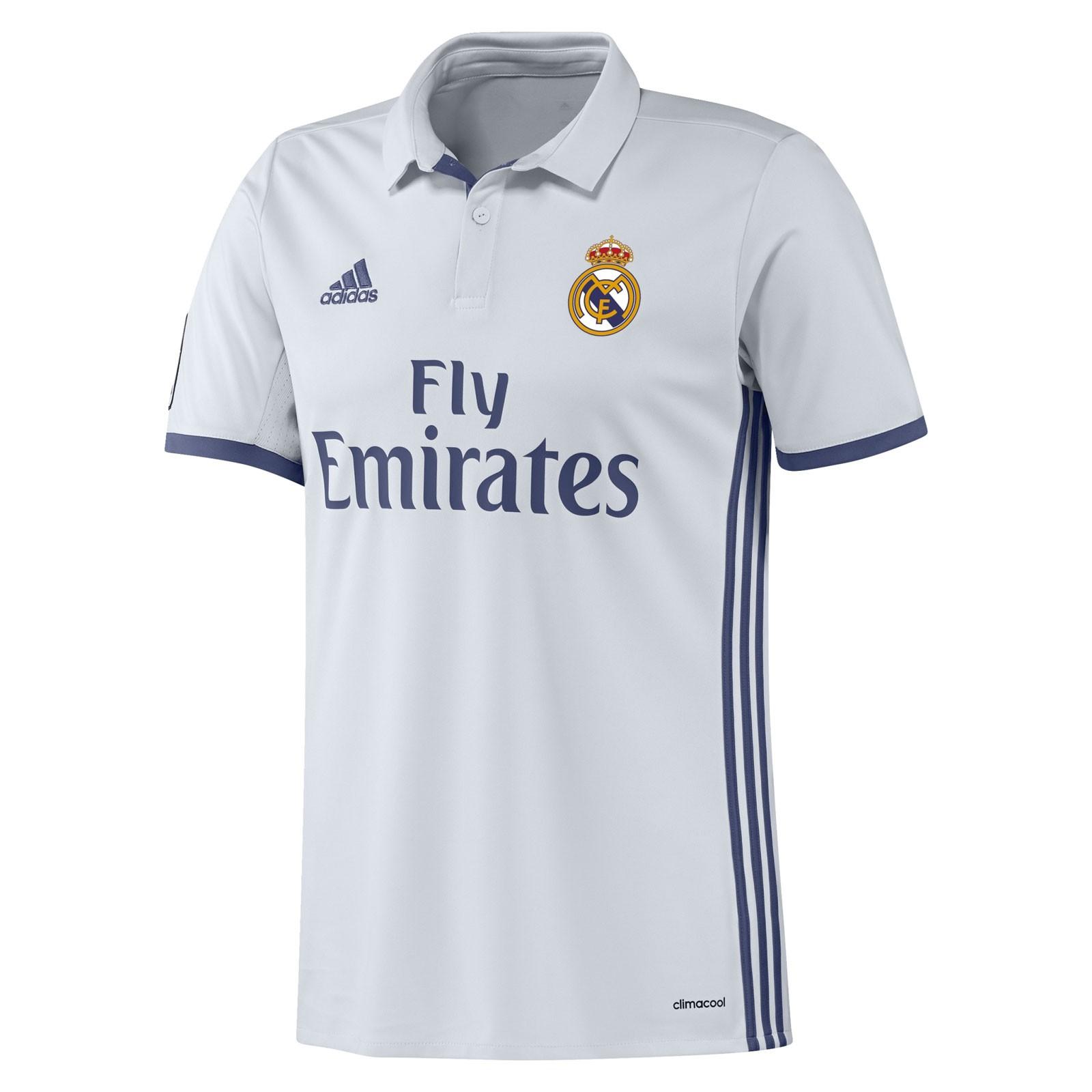 皇家马德里2016-17赛季球迷版主场球衣
