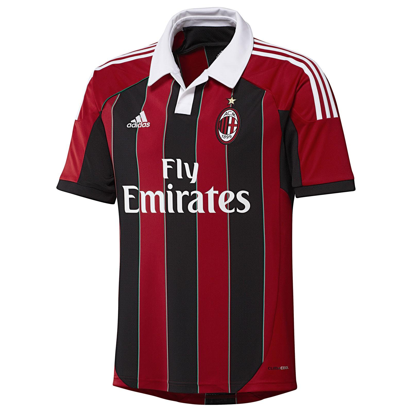 AC米兰2012/13赛季球迷版主场球衣