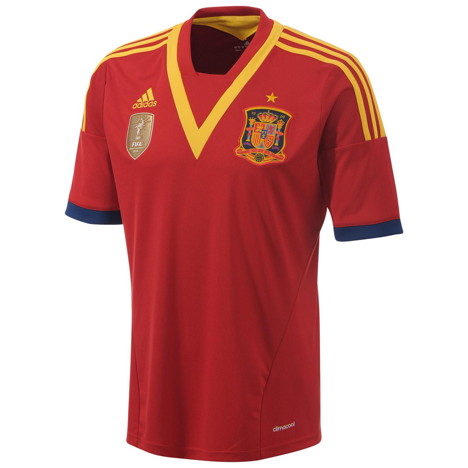 西班牙国家队2013联合会杯球迷版主场球衣