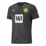 多特蒙德2021-22赛季球迷版客场球衣
