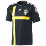 瑞典国家队2014赛季球迷版客场球衣