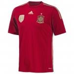 西班牙国家队2014世界杯球迷版主场球衣