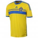 瑞典国家队2014赛季球迷版主场球衣